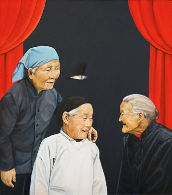 〈对古典主义的脱离 | Lossagen von Klassizismus, 2012〉 萧瑟 Se XIAO, 布面油画 Öl auf Leinwand, 60x53cm