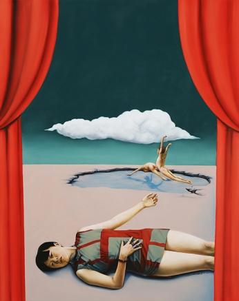 〈空虚的梦 | Tagtraum, 2015〉 萧瑟 Se XIAO, 布面油画 Öl auf Leinwand, 146x116cm