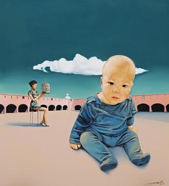 〈安提布 | Antibes, 2015〉 萧瑟 Se XIAO, 布面油画 Öl auf Leinwand, 100x90cm
