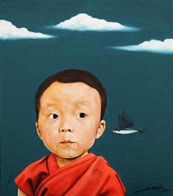 〈天真 | Arglosigkeit, 2014〉 萧瑟 Se XIAO, 布面油画 Öl auf Leinwand, 60x53cm