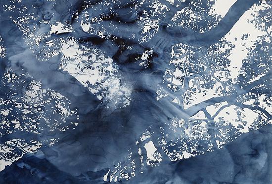 (21) 神往系列2-神往之光, 20--, 150x200cm 纸本水彩