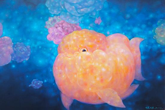 《幸福鱼》系列 45x90 cm