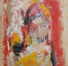 〈京剧脸谱 3 | Peking Oper 3, 2014〉 续鹤孝 Hexiao XU, 布面油画 Öl auf Leinwand, 40x40cm