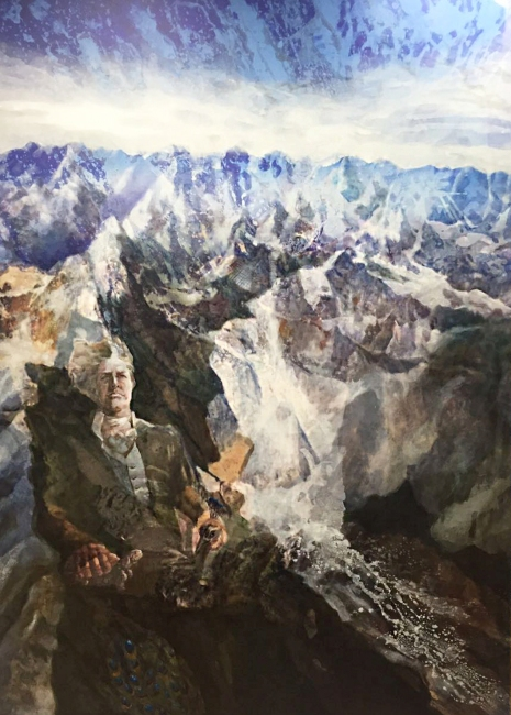 〈❤, 2017〉 蓝镜 Jiny LAN, 布面复合媒材 Mixed Media auf Leinwand, 140 x 200 cm