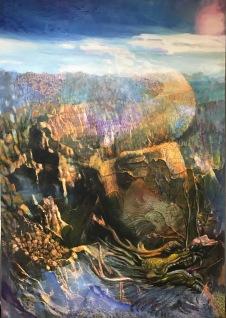 〈🐉, 2017〉 蓝镜 Jiny LAN, 布面复合媒材 Mixed Media auf Leinwand, 140 x 200 cm