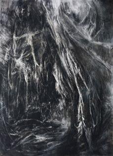 〈密林31-潘神的迷宫|Dschungel 31 – Pan´s Irrgarten, 2016〉 孙尧 Yao SUN, 布面油彩 Öl auf Leinwand, 280 x 180 cm