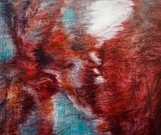 〈风景201604 - 触|Landschaft 201604 – Der Kontakt, 2016〉 孙尧 Yao SUN, 布面油彩 Öl auf Leinwand, 80 x 120 cm