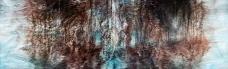 〈遗境 5|Eine verlorene Umgebung 5, 2014〉 孙尧 Yao SUN, 布面油彩 Öl auf Leinwand, 120 x 400 cm