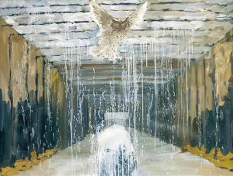 〈猫头鹰|Eule〉 张子康 Zikang ZHANG, 布面油画 / Öl auf Leinwand, 2016, 95 x 128 (cm)