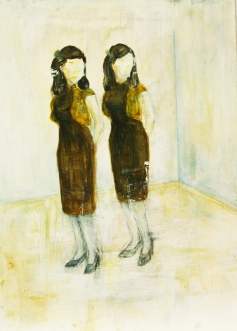 〈 Nr. 28 〉 陈琇源 Xiuyuan CHEN, 丙烯木板 / Acrylfarbe auf Holz, 28 x 20 (cm), 2014