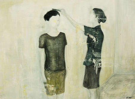 〈 Nr. 32 〉 陈琇源 Xiuyuan CHEN, 丙烯木板 / Acrylfarbe auf Holz, 30 x 20 (cm), 2014