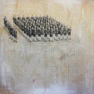 〈 Nr. 49 〉 陈琇源 Xiuyuan CHEN, 丙烯画布 / Acrylfarbe auf Leinwand, 100 x 100 (cm), 2015