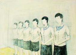 〈 Nr. 21 〉 陈琇源 Xiuyuan CHEN, 丙烯木板 / Acrylfarbe auf Holz, 28 x 20 (cm), 2013